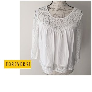 Forever 21 Laced Cotton Top